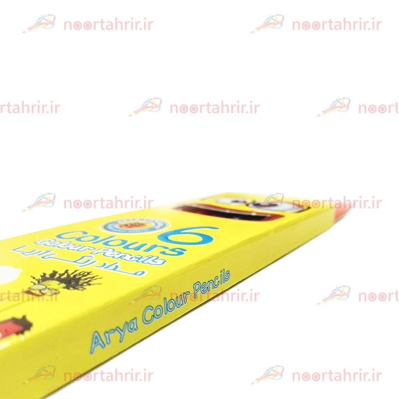 مداد رنگی 6 رنگ آریا