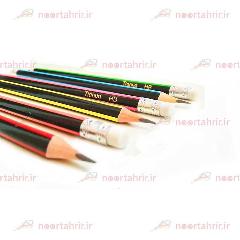 مداد مشکی تیانیا پاک کن دار