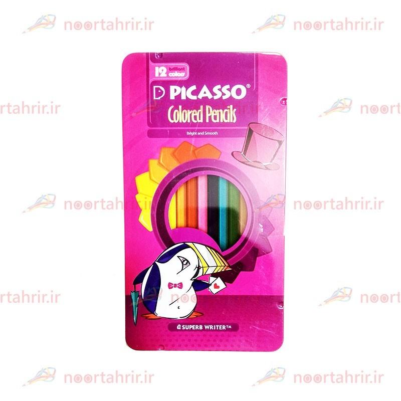 مداد رنگی 12 رنگ پیکاسو فلزی