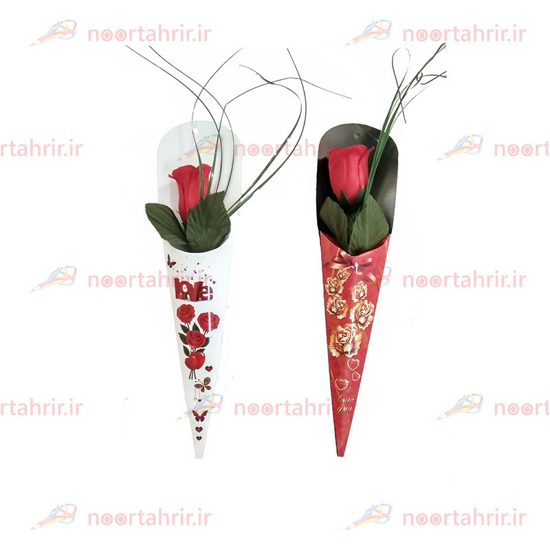 گل رز مصنوعی چاپ دار